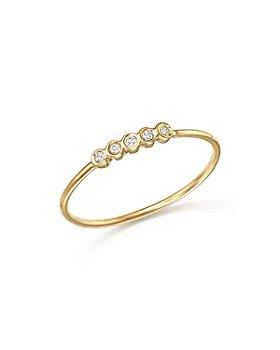 Zoë Chicco - 14K Yellow Gold Bezel Diamond Ring