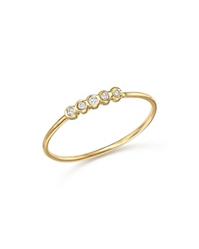Zoë Chicco - 14K Yellow Gold Bezel Diamond Ring