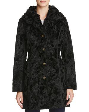 Laundry by Shelli Segal Reversible Persian Faux Lamb Fur Coat