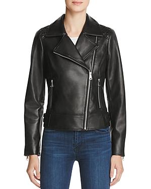 Marc New York Leah Leather Moto Jacket