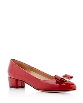 Salvatore Ferragamo - Women's Vara Leather Pumps