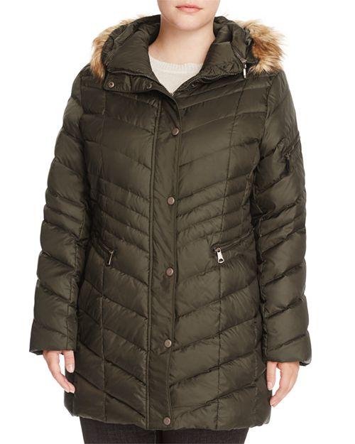 Marc New York Plus - Renee Faux Fur Trimmed Puffer Coat
