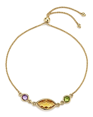 Multicolored Gemstone Chain Bracelet in 14K Yellow Gold - 100% Exclusive