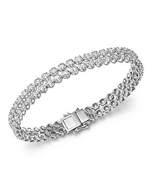 Diamond Two Row Tennis Bracelet in 14K White Gold, 4.0 ct. t.w - 100% Exclusive