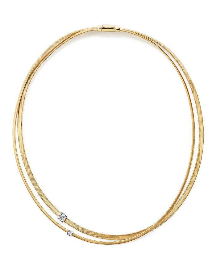 "Marco Bicego - 18K Yellow Gold Masai Two Strand Diamond Necklace, 17"""