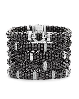 LAGOS - Black Caviar Ceramic Bracelets with Sterling Silver