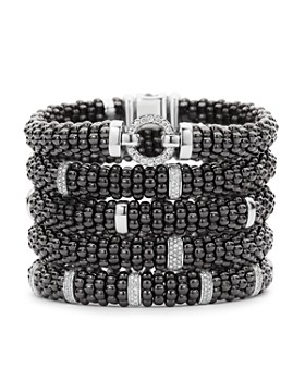 LAGOS - Black Caviar Ceramic Bracelets with Sterling Silver