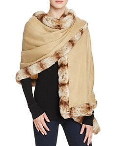 Badgley Mischka Faux Fur Trim Wrap - Bloomingdale's_0
