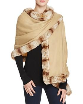 Badgley Mischka - Faux Fur Trim Wrap