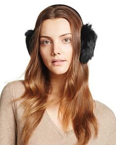 Surell Rabbit Fur Ear Muffs - Bloomingdale's_0