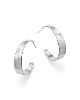 Ippolita Sterling Silver Senso Tapered Hoop Earrings