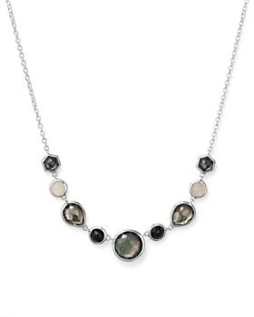 """IPPOLITA - Sterling Silver Rock Candy® Necklace in Black Tie, 16"""""""