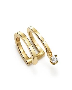 Zoe Chicco 14K Yellow Gold Coil Single Earcuff with Diamond