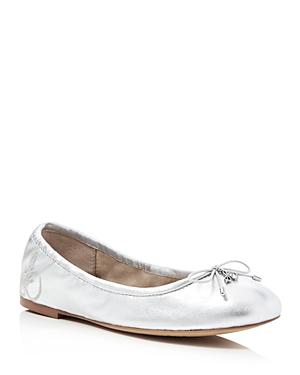 New Sam Edelman Felicia Metallic Ballet Flats, Flats, Soft Silver
