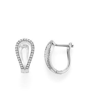 Bloomingdale's - Diamond Horseshoe Earrings in 14K White Gold, .50 ct. t.w.- 100% Exclusive