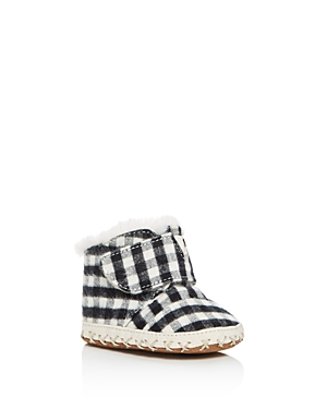 Toms Boys' Flannel Check Cuna Booties - Baby