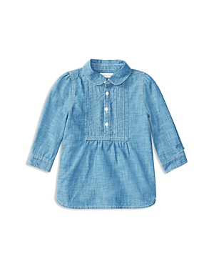 Ralph Lauren Childrenswear Infant Girls Pintucked Chambray Top  Sizes 624 Months