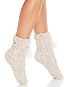 UGG® - Pompom Fleece-Lined Socks