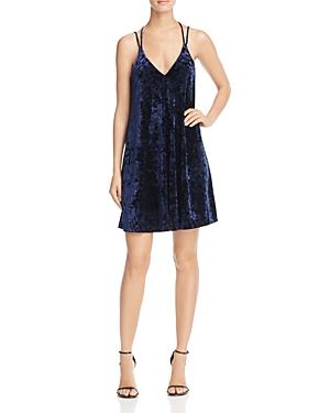 Aqua Crushed Velvet Slip Dress - 100% Exclusive