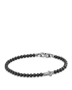 David Yurman - Spiritual Beads Cross Bracelet with Black Onyx in Sterling Silver