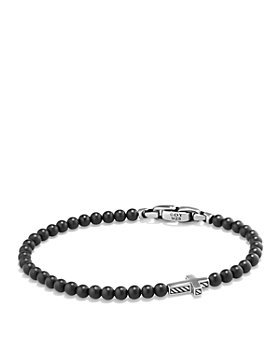 David Yurman - Spiritual Beads Cross Bracelet with Black Onyx in Sterling Silver