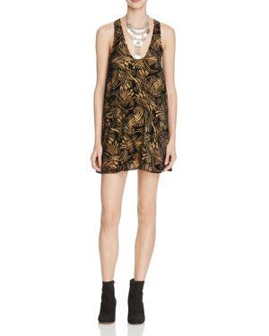 Free People Ellie Burnout Velvet Burnout Mini Dress
