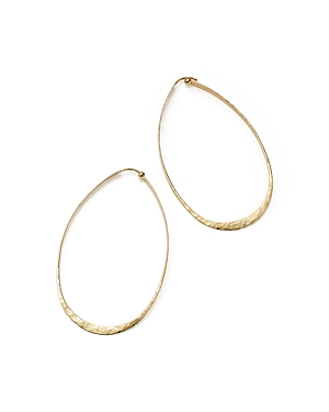 14K Hammered Yellow Gold Large Oval Twist Earrings - 100% Exclusive