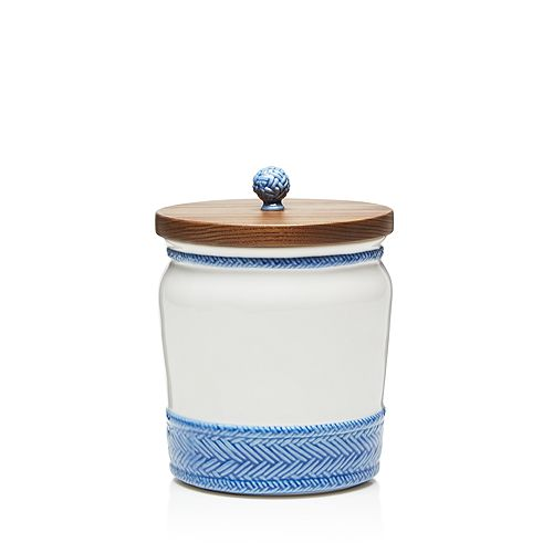 """Juliska - Le Panier Canister with Wooden Lid, 7.5"""""""