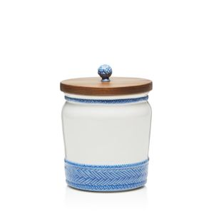 Juliska Le Panier Delft 7.5 Canister with Wooden Lid