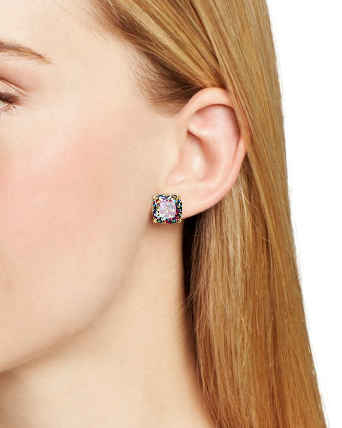 cee79ede4 kate spade new york Small Square Glitter Stud Earrings | Bloomingdale's