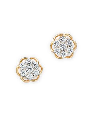 Diamond Cluster Stud Earrings in 14K Yellow Gold, .25 ct. t.w. - 100% Exclusive