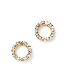 Bloomingdale's - Diamond Circle Stud Earrings in 14K Gold, 0.20 ct. t.w. - 100% Exclusive