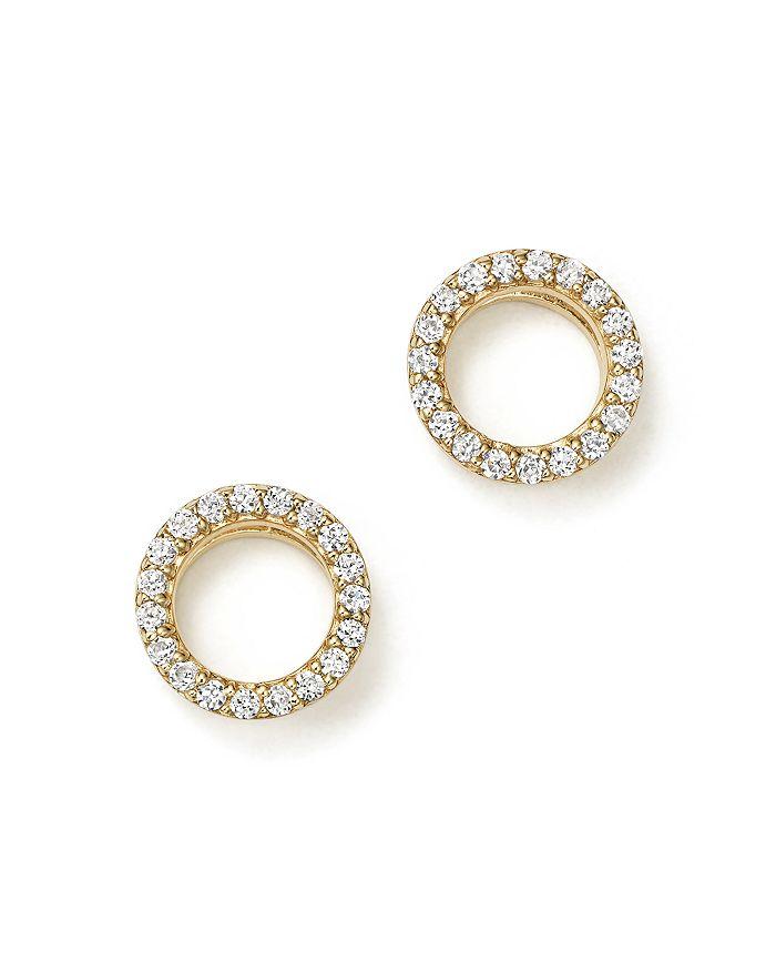 Bloomingdale's - Diamond Circle Stud Earrings in 14K Yellow Gold, .20 ct. t.w. - 100% Exclusive