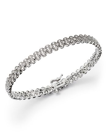 Bloomingdale's - Diamond Bracelet in 14K White Gold, 1.50 ct. t.w. - 100% Exclusive