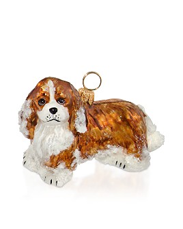 Joy to the World - Cavalier King Blenheim with Snow Ornament