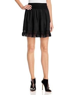 McQ Alexander McQueen Ruffled Lace-Trim Skirt