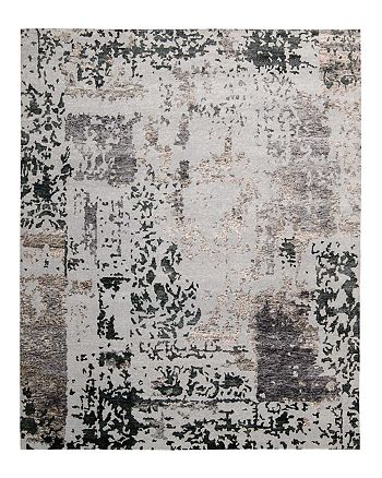 "Nourison - Silk Shadows Rug - Abstract Silver Gray, 5'6"" x 7'5"""