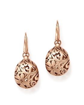 Pomellato Arabesque Earrings In 18k Matte Rose Gold