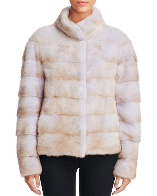 Maximilian Furs - Grooved Mink Fur Coat - 100% Bloomingdale's Exclusive