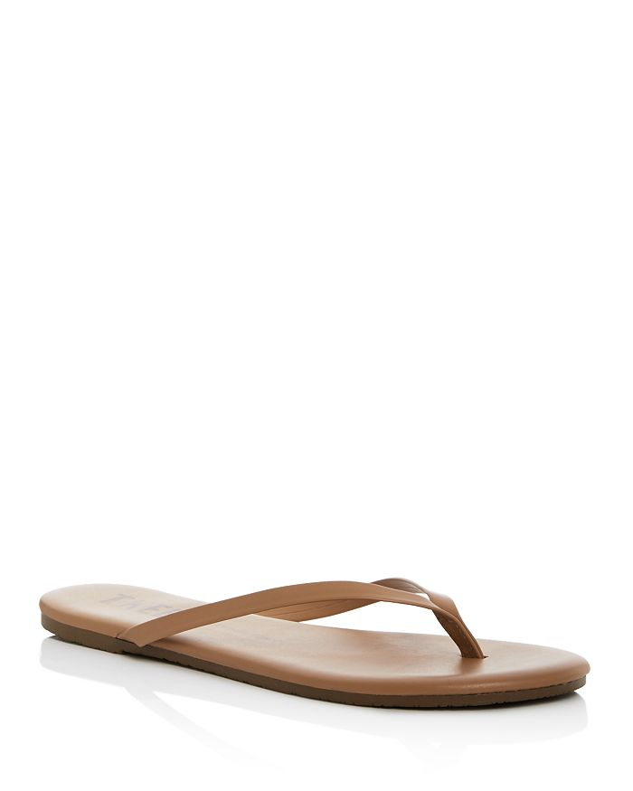bfba0ad71da5 TKEES - Women s Foundations Leather Flip-Flops