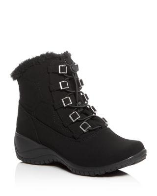 KHOMBU Alexa Waterproof Cold Weather Boots in Black