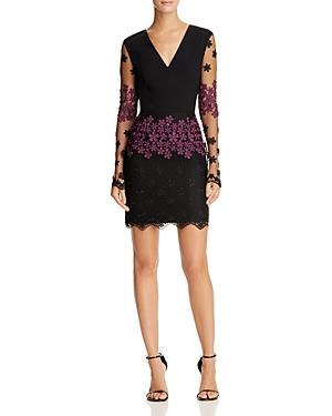 Black Halo Racel Floral Embroidered Dress