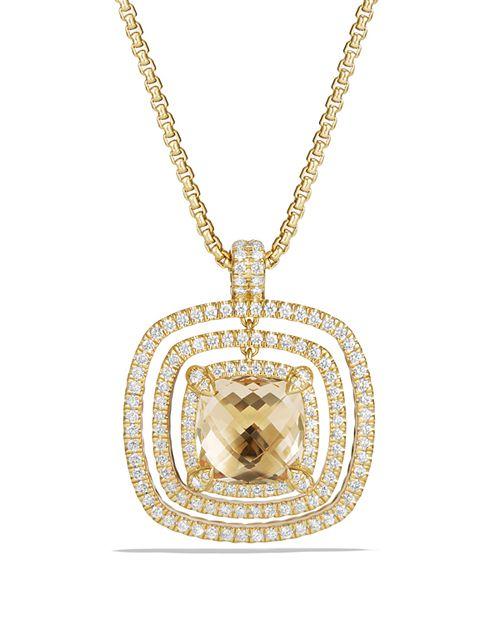 David Yurman - Châtelaine Pavé Bezel Enhancer with Garnet and Diamonds in 18K Gold
