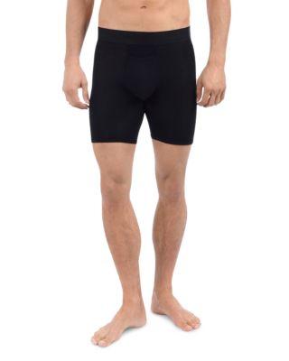 TOMMY JOHN Men'S Second Skin Boxer Briefs in Black