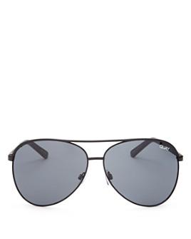 Quay - Women's Vivienne Brow Bar Aviator Sunglasses, 65mm