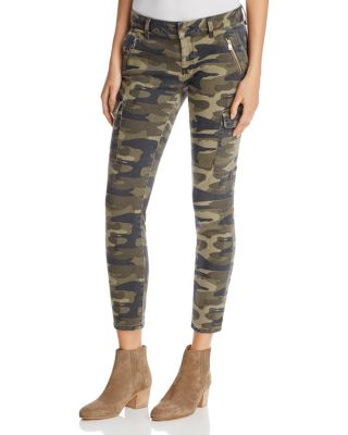 Juliette Camo Print Military Cargo Pants in Military Camouflage