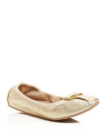 f249110b359bd Salvatore Ferragamo My Joy Metallic Ballet Flats | Bloomingdale's