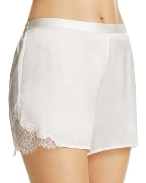Ginia Lace-Trim Silk Boxers