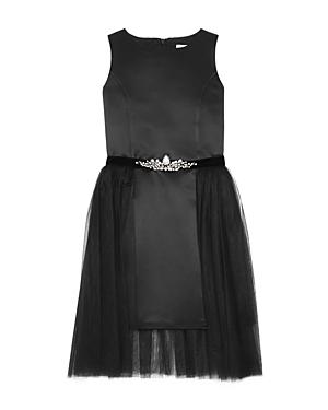 David Charles Girls Satin  Tulle Dress  Sizes 716