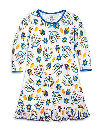 Sara's Prints - Girls' Hanukkah Print Nightgown - Sizes 2-7